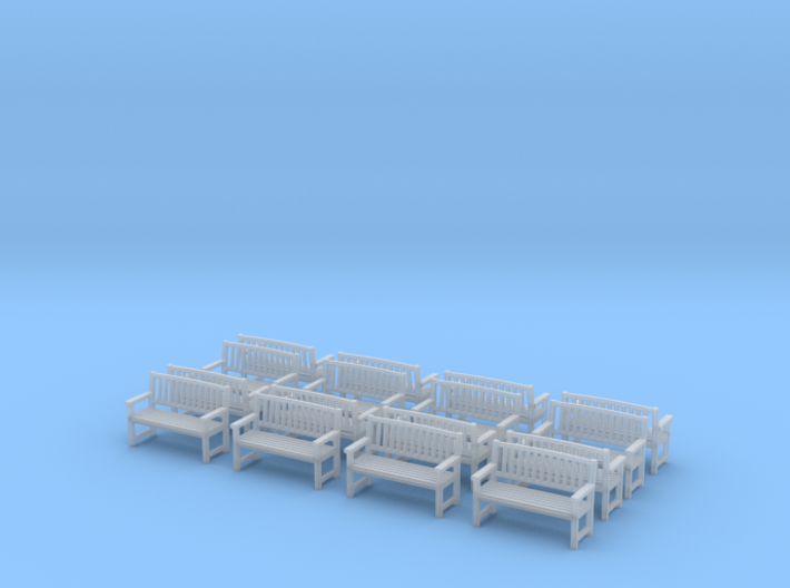 Bench type B - H0 ( 1:87 scale )16 Pcs set  3d printed