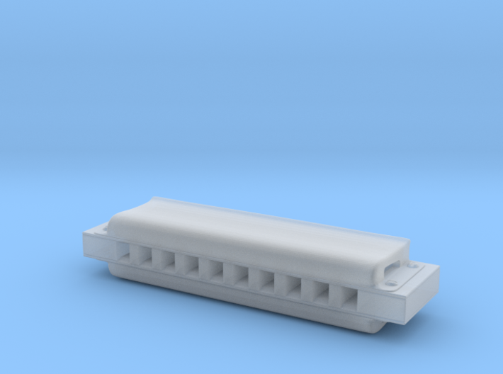 1/6th Scale Harmonica 3d printed