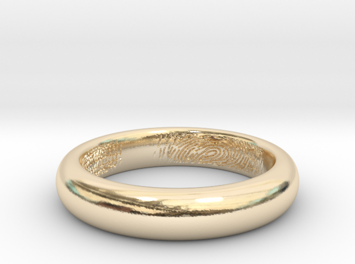 Ring - Hidden Fingerprint 3d printed