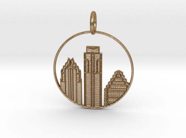 Austin Pendant With Loop 3d printed Austin Pendant with Loop (different materials have different prices)