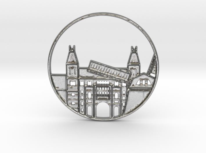 Amsterdam Pendant 3d printed Amsterdam Netherlands Pendant (different materials have different prices)