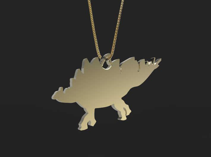 Stegosaurus necklace Pendant 2 3d printed