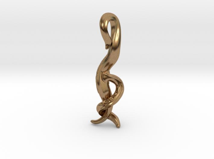 Caenorhabditis Nematode Worm Pendant 3d printed
