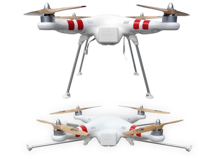 DJI Phantom Foldable Landing Gear 3d printed DJI Phantom Foldable Landing Gear overview