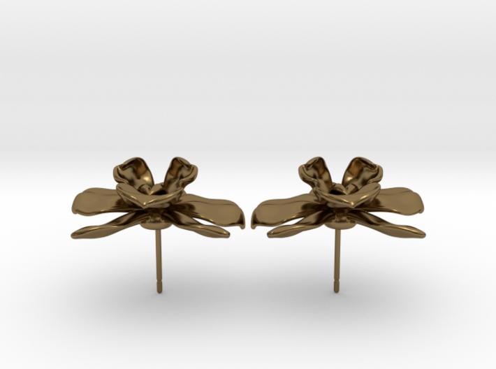 Orchid Earrings 3d printed