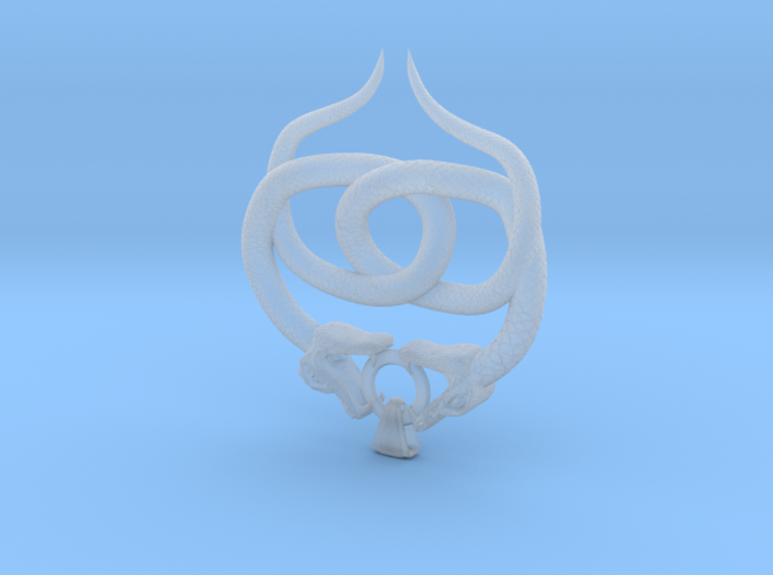 Double Snake Amulet 3d printed