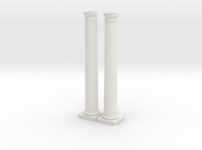 Doric Columns 5500mm high at 1:76 scale X 2 3d printed