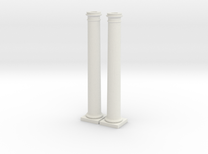 Doric Columns 6000mm high at 1:76 scale 3d printed