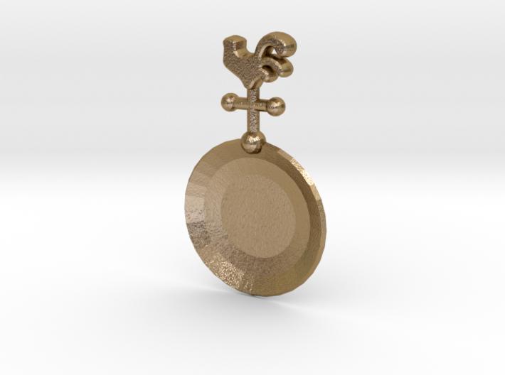 Rooster Tea Caddy Spoon 3d printed Shapeways render