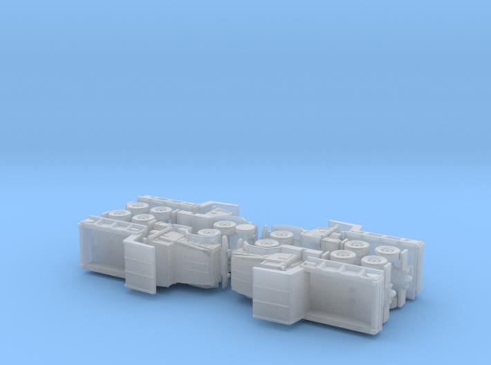 US M929 Dump Truck 1/285 3d printed