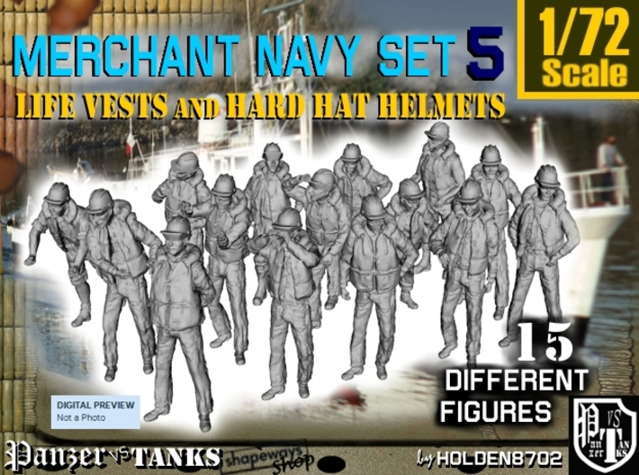 1/72 Merchant Navy Set 5 3d printed