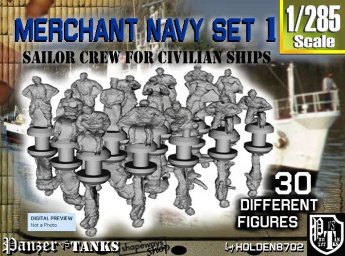 1-285 Merchant Navy Crew Set 1 3d printed