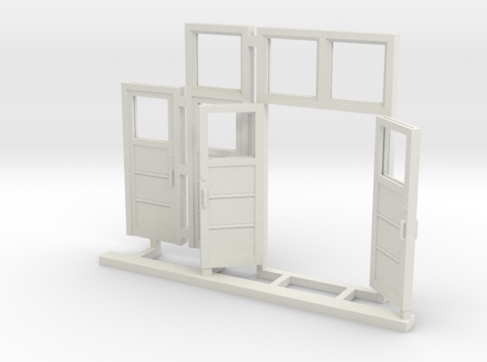 Red Barn Door Group_White - 72;1 Scale 3d printed