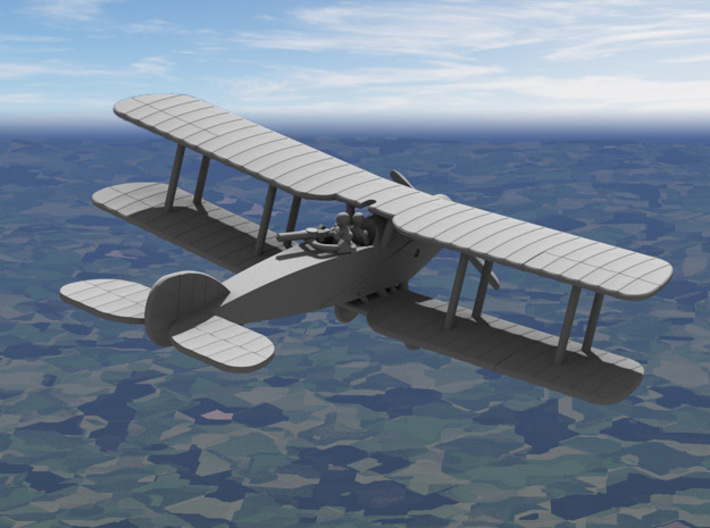 Bristol F.2B Fighter 3d printed Computer render of the 1/144 model