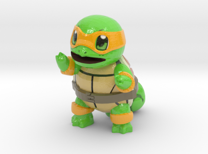 Ninja Squirtle, Mikey 3d printed