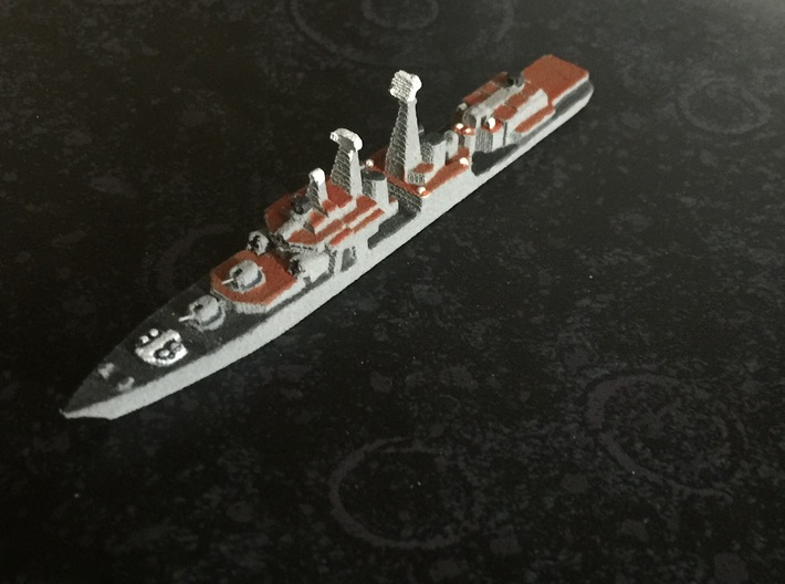 Udaloy I-class destroyer, 1/1800 3d printed Painted Sample