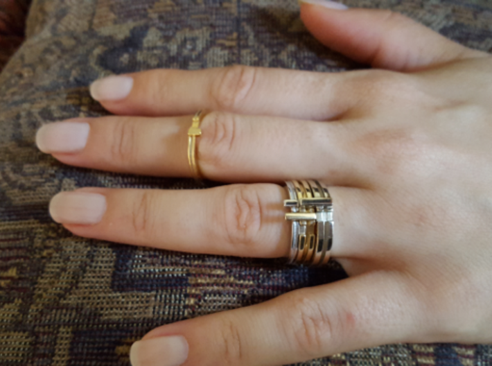 Slim Stackable Ring Size 7 3d printed Mix-n-Match