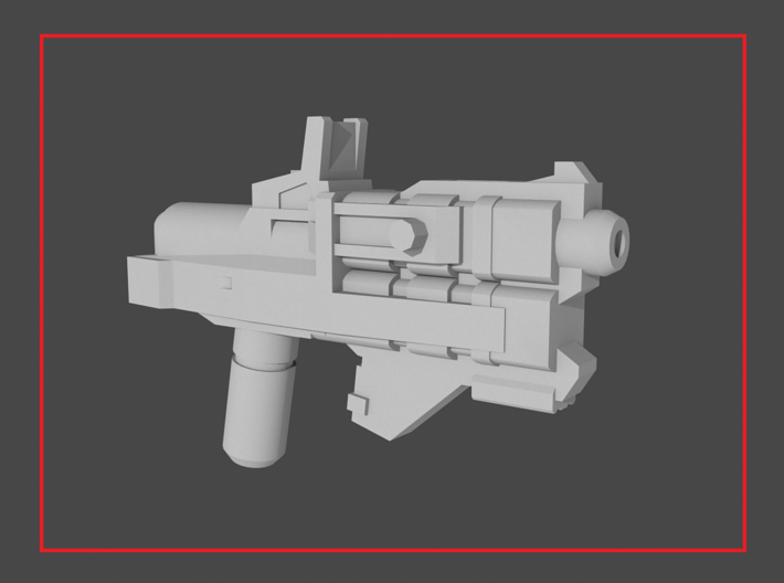 """""""AFTERPULL"""" Transformers Weapon (5mm post) 3d printed"""