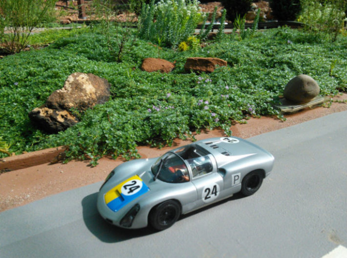 CK1 Chassis Kit for 1/32 Scale Small MagRacing Car 3d printed 1967 Porsche 910 mounted on chassis CK1.