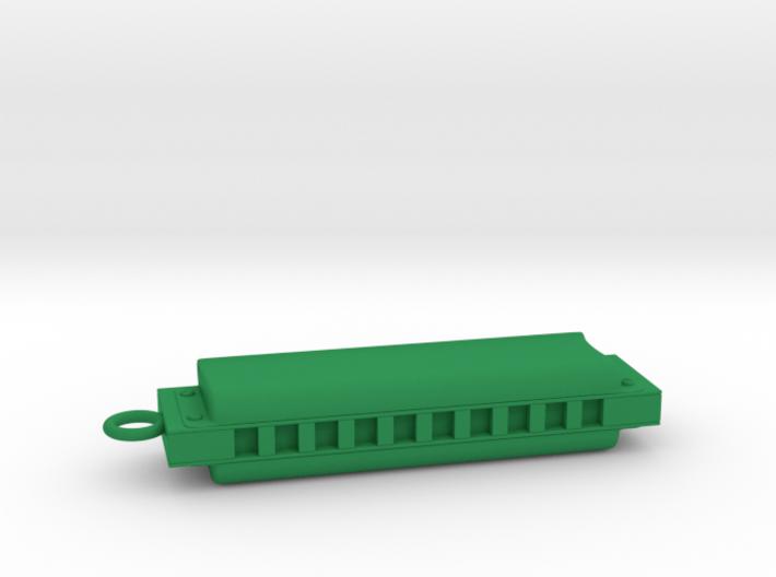 Harmonica Pendant - Plastic - Custom text 3d printed