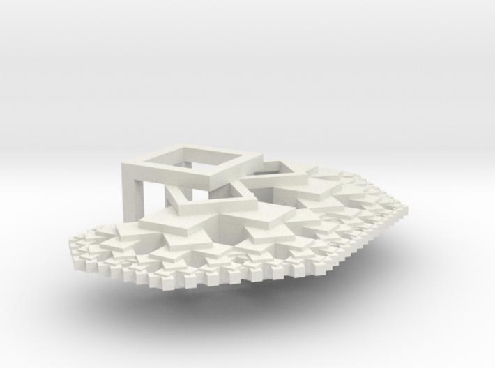 Pythagorean tree 3d printed