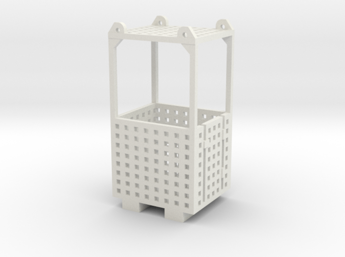 Crane Man Cage 1-87 HO Scale 3d printed