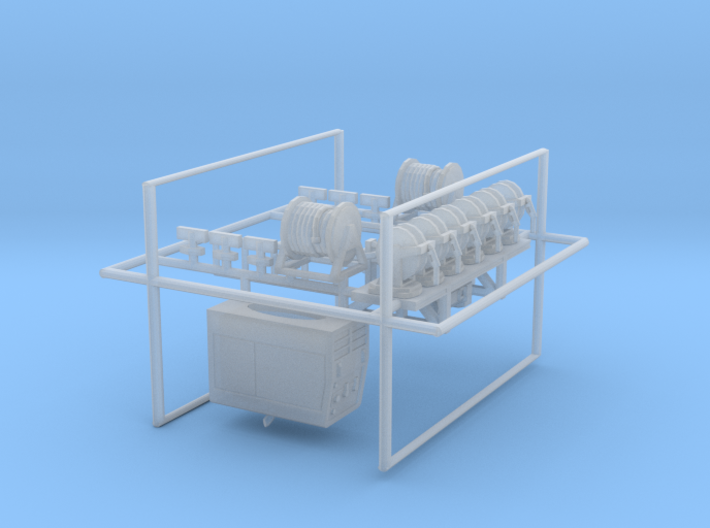 1/50th fuel lube service truck details 3d printed