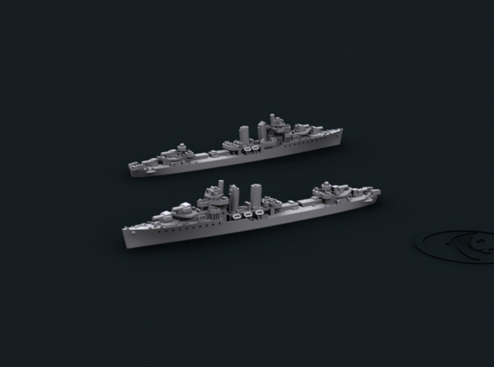 1/2400 US DD Farragut [1944] (x8) 3d printed Computer software render