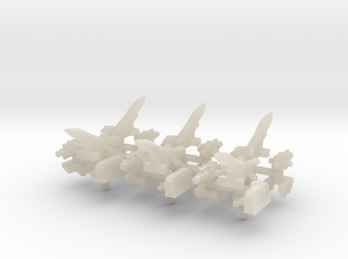 6mm Vehicle Artillery Weapons (24pcs) 3d printed