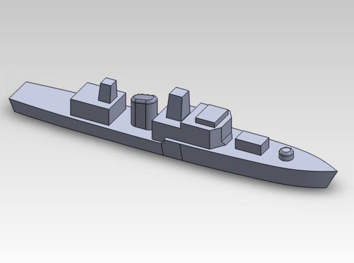 60OT01 1:6000 Generic medium warship X10 3d printed close view