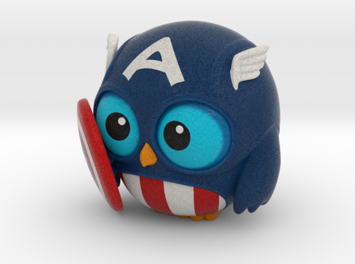 Captain Owl 3d printed