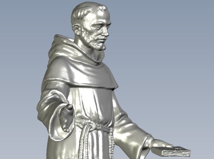 1/35 scale Catholic priest monk figure A 3d printed