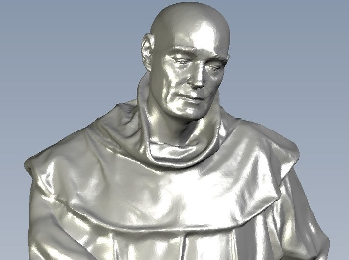 1/35 scale Catholic priest monk figure B 3d printed
