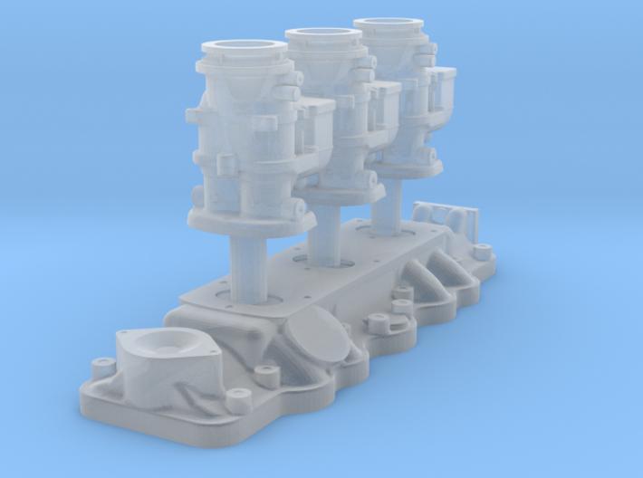1/43 Flathead Triple Deuce Carb Kit 3d printed