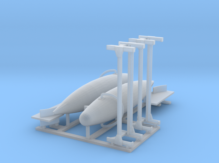 Minesweeping Float Pair72 3d printed