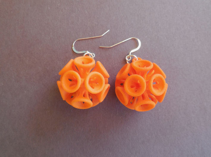 Suckerballs - A pair of 3D printed earrings 3d printed
