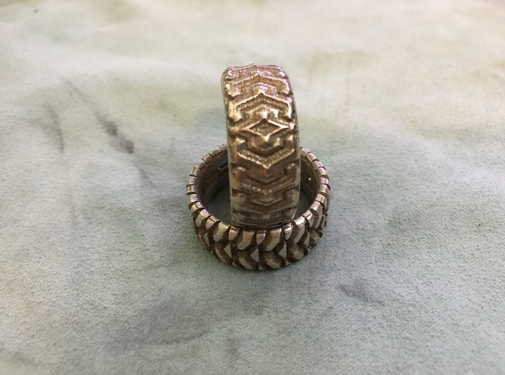 Combine  Ring Size 11 Narrow 3d printed