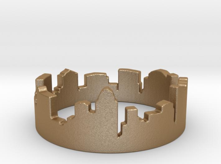 Columbus Night Ohio Ring Size 4 3d printed Columbus Night in Gold