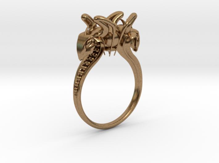 Snake head Ring 3d printed