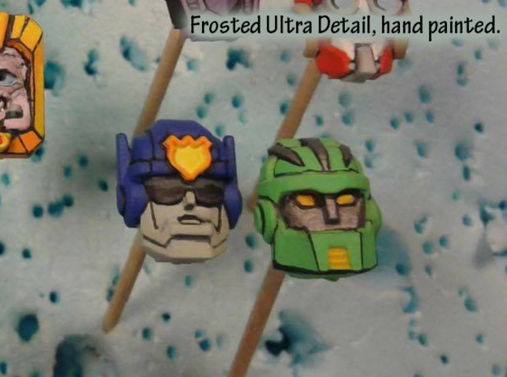 Graduate Boulder Faceplate (Titans Return) 3d printed Hand Painted frosted ultra detail, shown with Chase