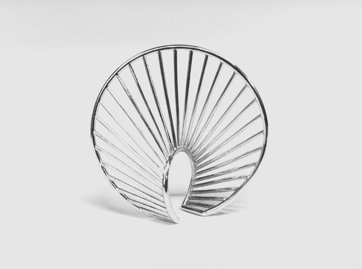Statement Structure Ring 3d printed