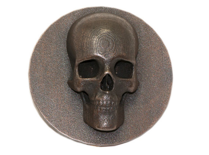 Belt Buckle With Skull 3d printed