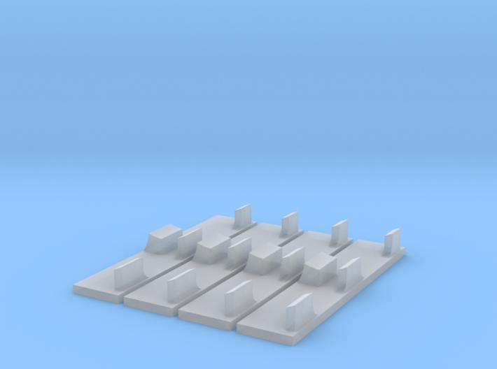 WING-X REBELL 1/29 EASYKIT LASER MOUNTS 3d printed