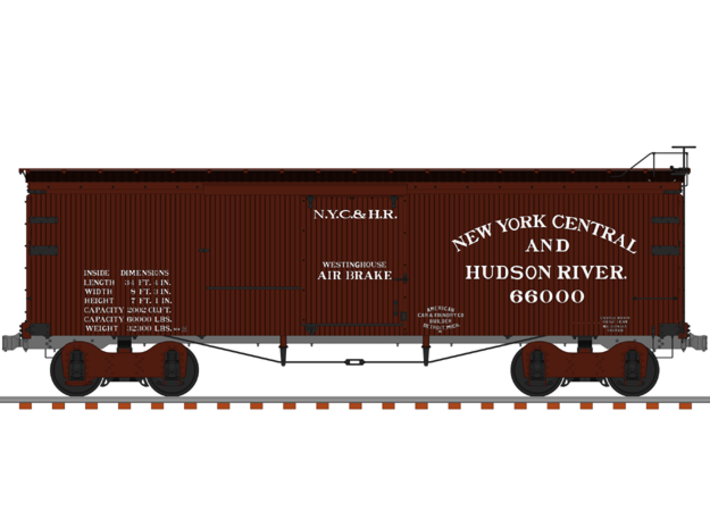 NYC&HR 35' Boxcar LATE Version 3d printed