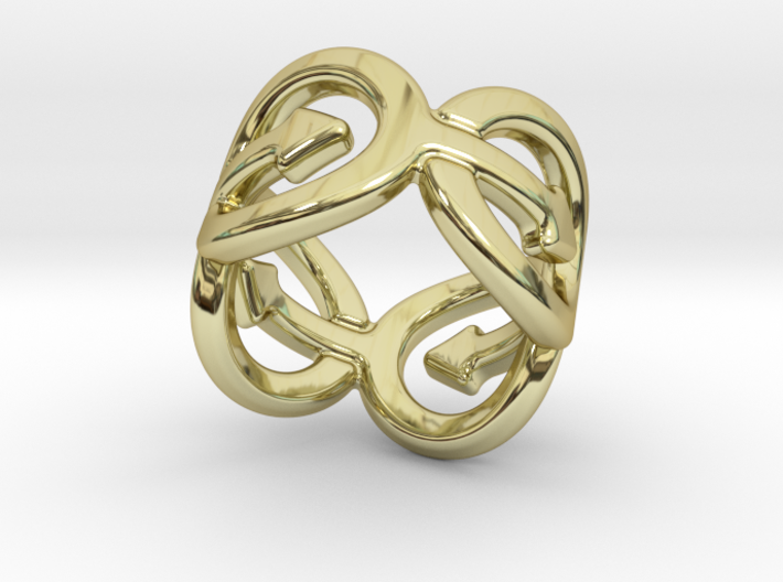 Coming Out Ring 24 – Italian Size 24 3d printed