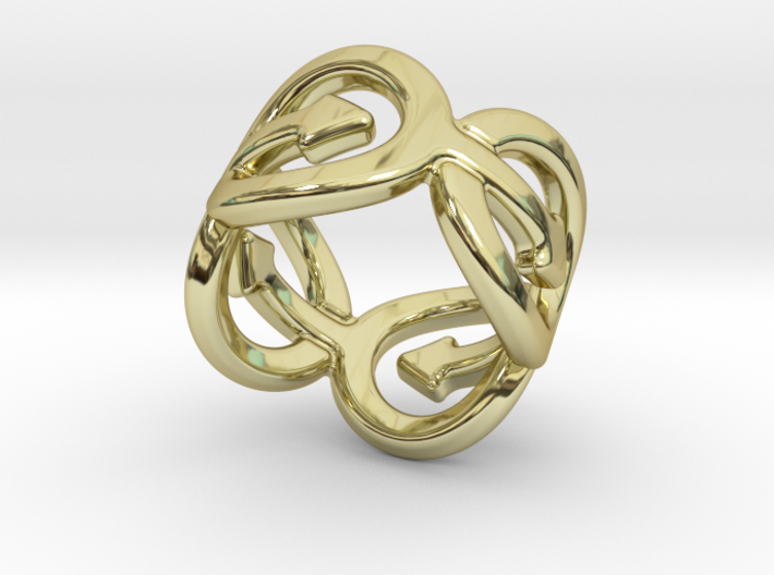Coming Out Ring 26 – Italian Size 26 3d printed