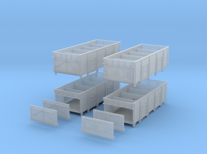 BRdiagram 1/110 Set of 4 with spare end doors 3d printed