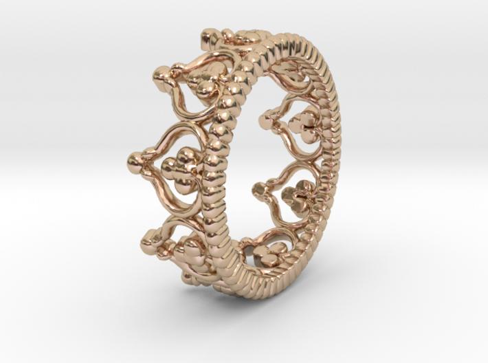 """""""Diadem"""" Crown Ring 3d printed"""
