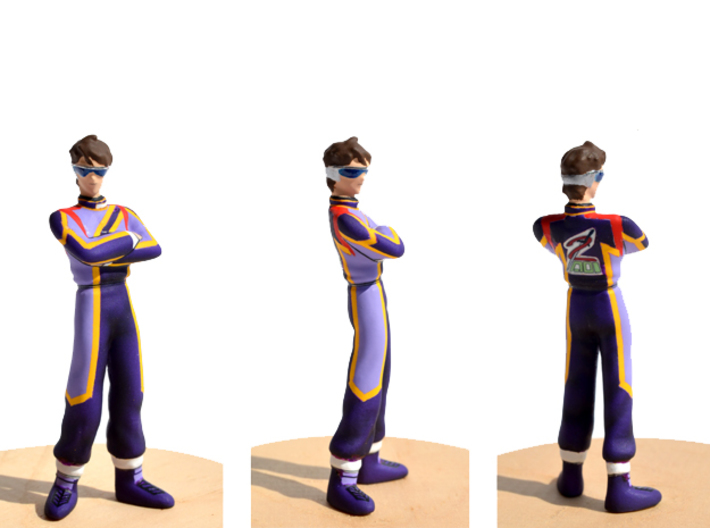 1/24 or G-scale Racing Driver Figure w/ Sunglass 3d printed