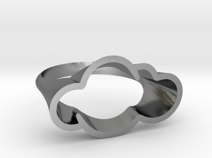 Cloud Ring, Every Cloud has a Silver Lining 3d printed